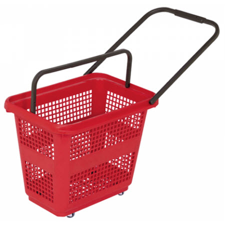 Rolling Baskets - Flip Handle