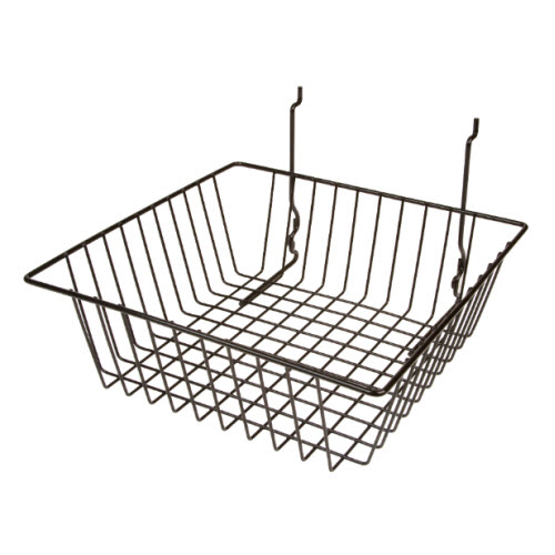 Square Wire Display Basket, 12 x 12 x 4
