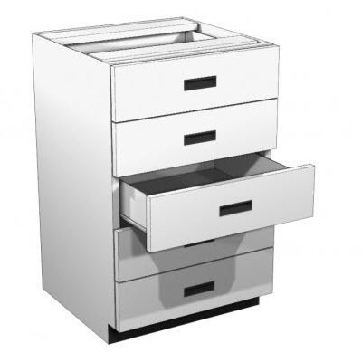 Exceptionnel Lozier Metal Rx 5 Drawer Cabinet