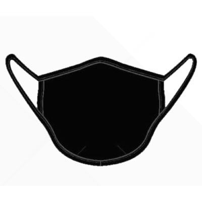 Face Mask, Cloth - Black (5pk)