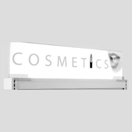 Acrylic Gondola Top Sign Holder