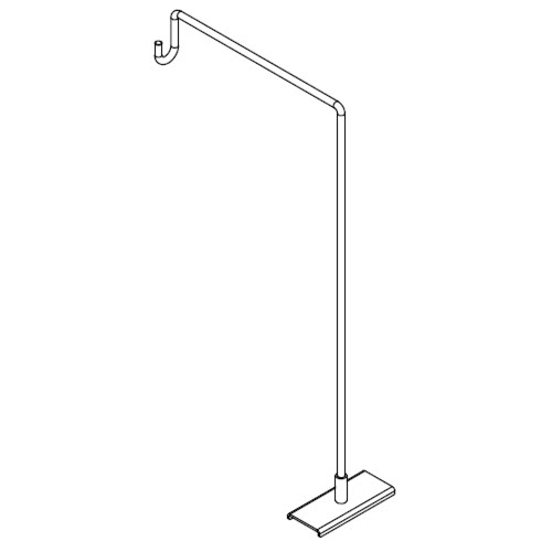 Magnetic Right Angle Gondola Sign Holder
