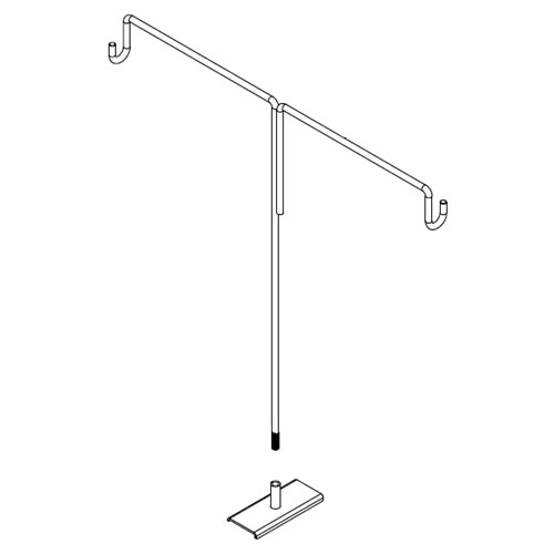 Magnetic Double Right Angle Gondola Sign Holder