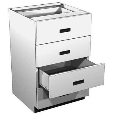 4-Drawer Lozier Metal Rx Cabinet