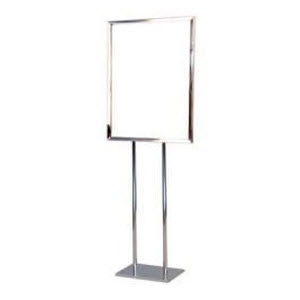 Floor Stand Sign Holder, Chrome, 22x28