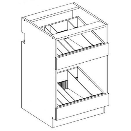 RX08-2 Two Drawer Vial / Bottle Unit 2-Widths Available