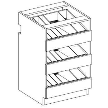 RX08-3 Three Drawer Vial / Bottle Unit 2-Widths Available