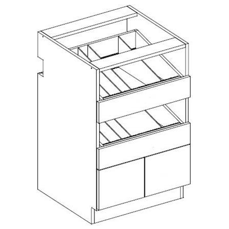 RX08-4 Two Drawer Vial /  Two Standard Drawer Bottle Unit