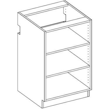 RX12 Two Shelf Open Unit Adjustable Shelves 5-Widths Available