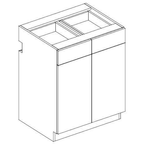 RX14D2 Combo Drawer Unit/ Double Door/1-shelf 2-Widths Available