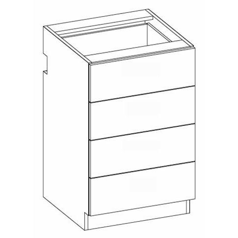 RX16 Four Drawer  Accessory Unit 2-Widths Available