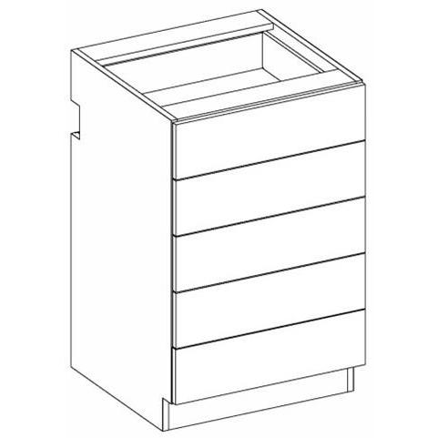 RX17 Five Drawer Accessory Unit 2-Widths Available