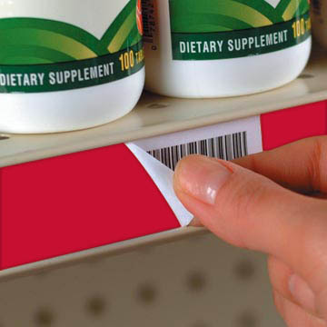 Label Release for C-Channel Shelves, Adhesive
