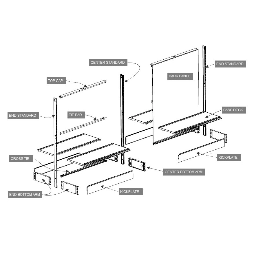 Universal Streater Shelving Parts