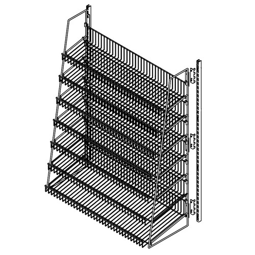 Wire Candy Snack Rack, 7 Tier
