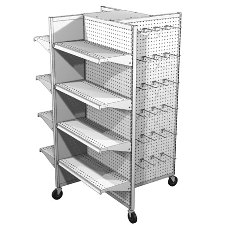 Lozier 4-Way Display with Casters