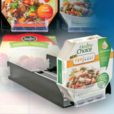 Frozen Food Pusher Trays, Bar Mount