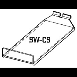 6.5x12 Acrylic Slatwall Shelf-Tray