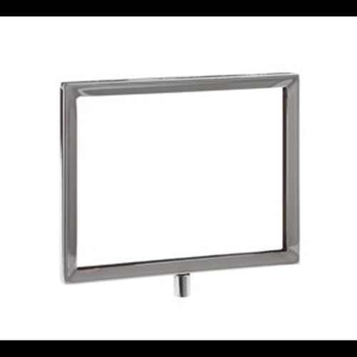 7W x 5.5H Sign Holder, Chrome