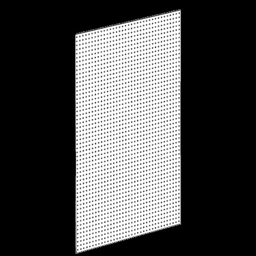 Streater Pegboard Back Panel, Decor White