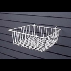 Square Wire Slatwall Basket