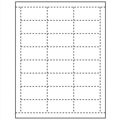 "Paper Tags for Price Channel and Pegboard, 2.5"" x 1.125"""
