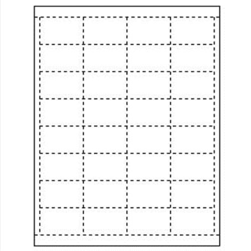 Paper Tags for Price Channel and Pegboard, 32 per sheet