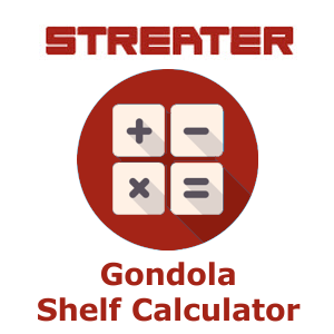 Streater Gondola Shelving Calculator